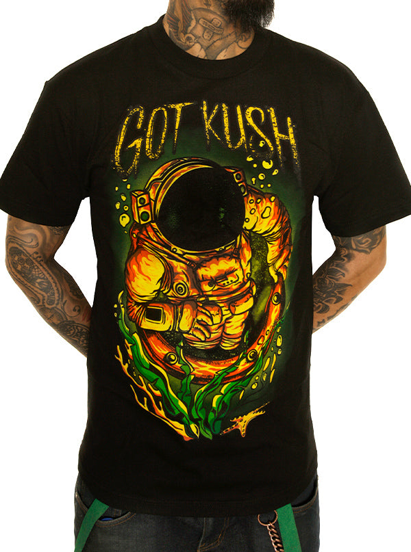 Men's From Another World' Tee by Kush Kills Clothing (Black)
