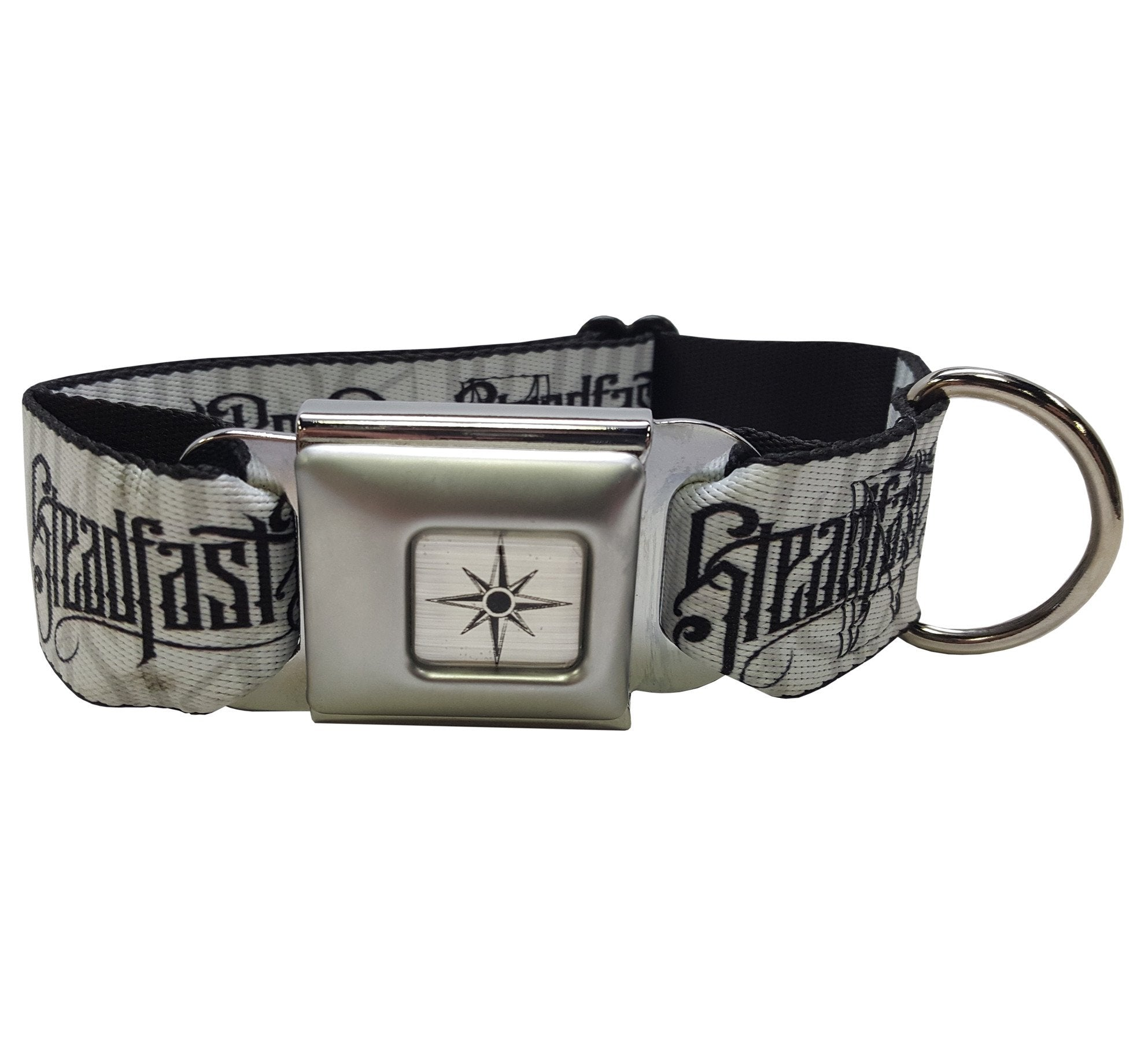 Steadfast Noir Logo Dog Collar (White)