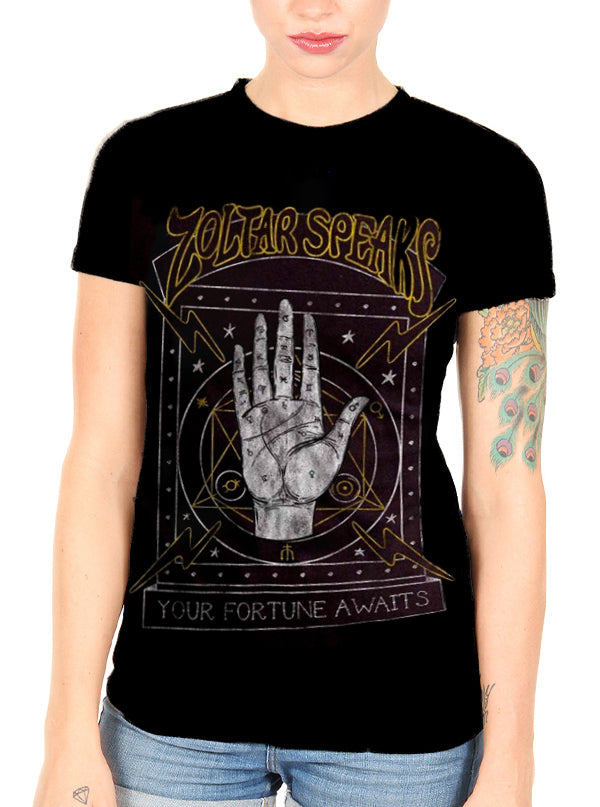 Women's Zoltar Speaks - Your Fortune Awaits Tee by Goodie Two Sleeves
