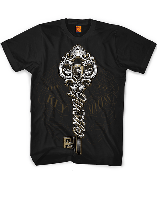 "Men's ""Hustle Key"" Tee by OG Abel (Black) - www.inkedshop.com"