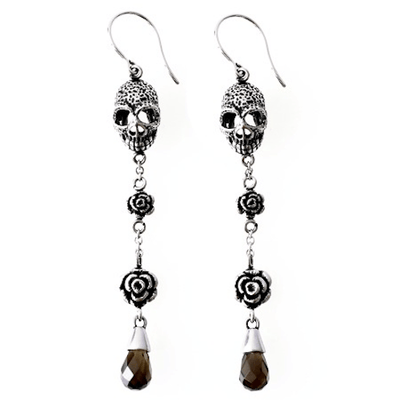 Skull and Roses Earrings by Controse - InkedShop - 1
