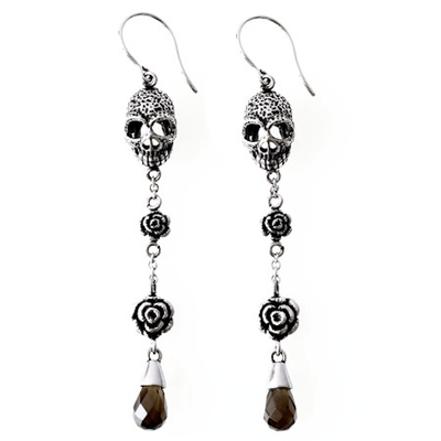 Skull and Roses Earrings by Controse - InkedShop - 2