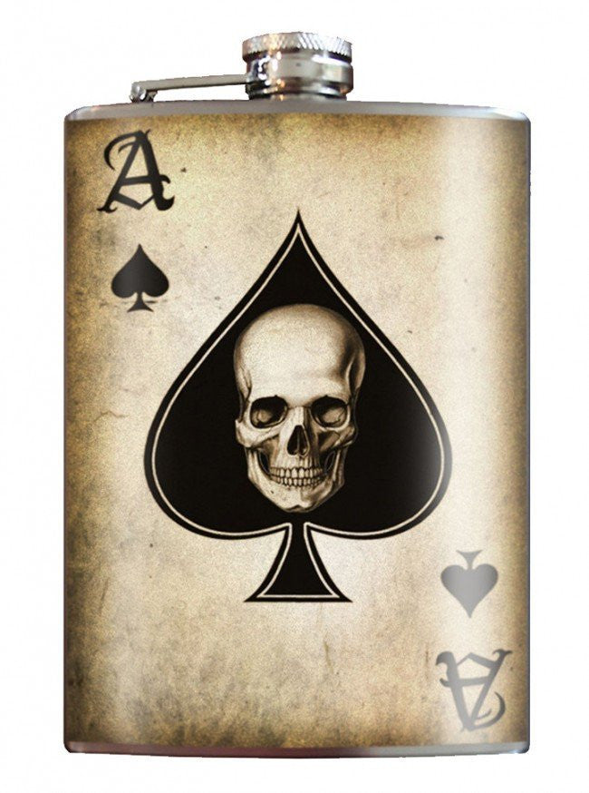 """Ace of Spades"" Flask by Trixie & Milo - InkedShop - 1"