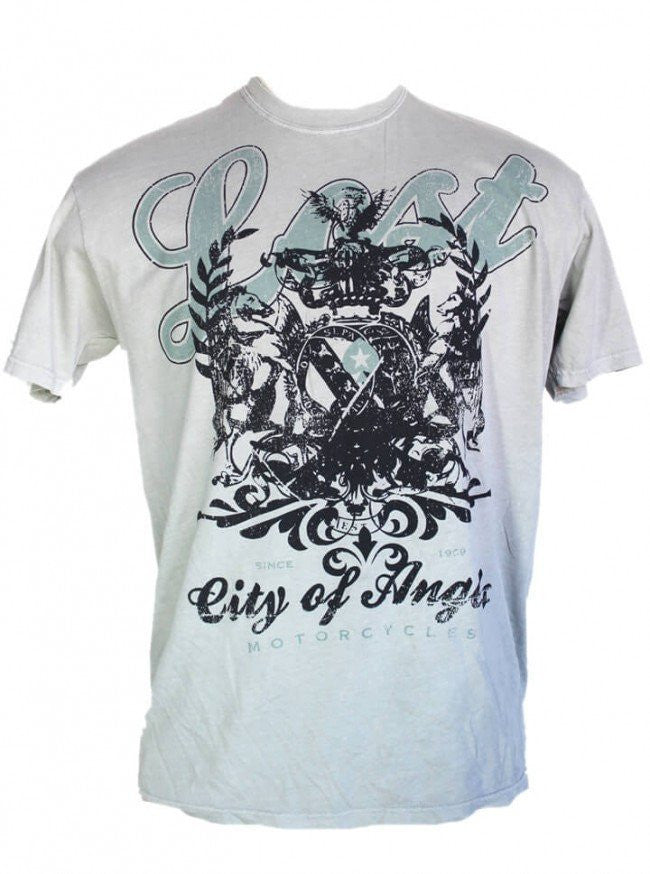 "Men's ""Lost"" Tee by LA Rebel (Grey) - www.inkedshop.com"