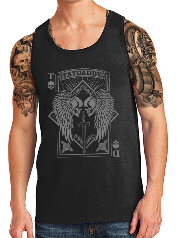 "Men's ""Aces High"" Tank by Tat Daddy (Black)"