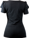 "Women's ""Puff Sleeve"" Cuff Top by Pinky Pinups (Black) - www.inkedshop.com"