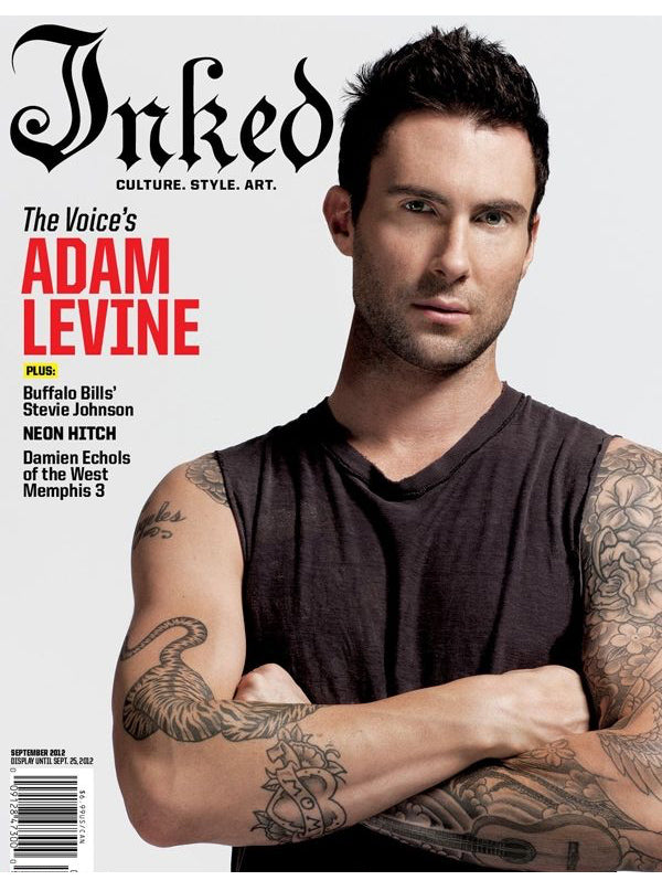 Inked Magazine Featuring Adam Levine - September 2012