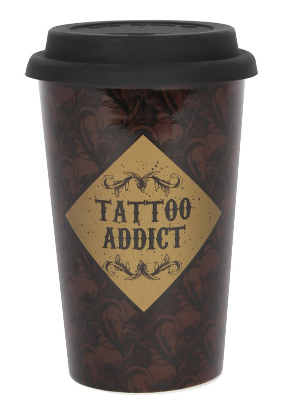 Tattoo Addict Travel Mug (Brown)