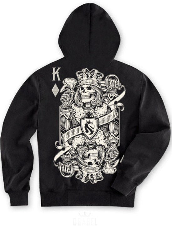 "Men's ""King Of Diamonds"" Zip-Up Hoodie by OG Abel (Black) - www.inkedshop.com"