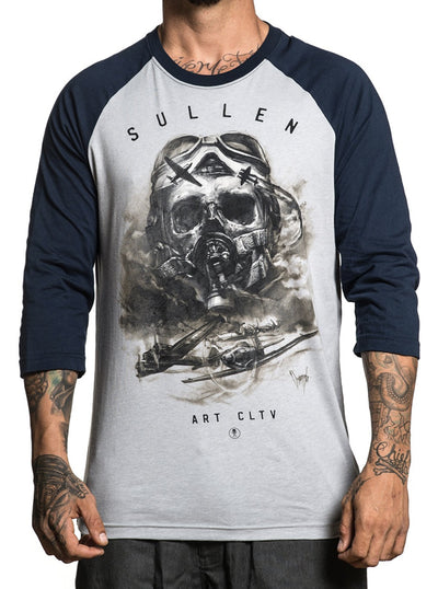"Men's ""Air Fight"" Raglan Tee by Sullen (Grey/Obsidian)"