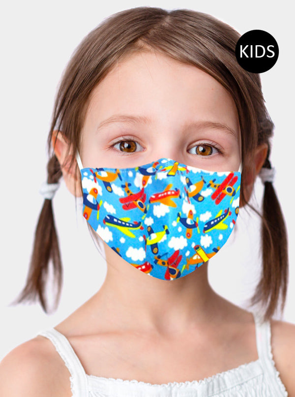 Kid's Random Airplane Face Mask