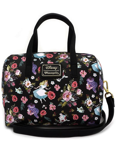 Alice Character Floral Print Duffle Bag by Loungefly