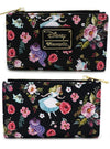 Alice Character Floral Print Wallet by Loungefly