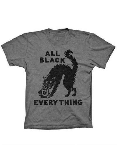 "Men's ""All Black Everything"" Tee by Pyknic (Heather Grey) - www.inkedshop.com"