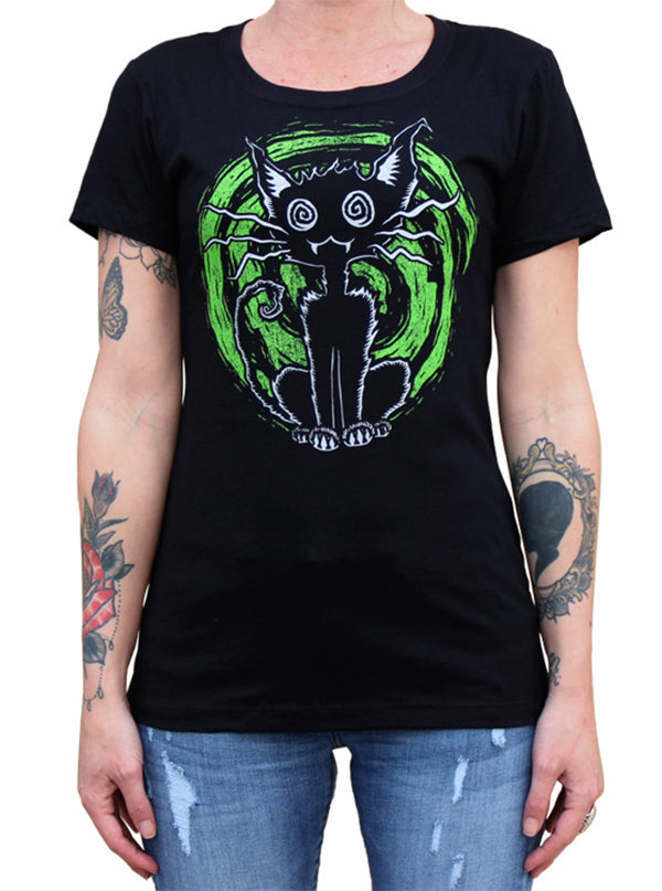 Women's Alley Cat Tee by Lowbrow Art
