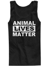 "Men's ""Animal Lives Matter"" Tank by The T-Shirt Whore (Black) - www.inkedshop.com"
