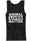 "Women's ""Animal Lives Matter"" Tank by The T-Shirt Whore (Black) - www.inkedshop.com"