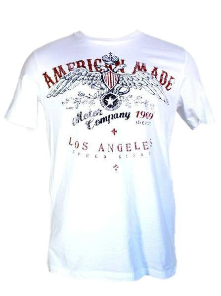 "Men's ""American Made"" Tee by LA Rebel (White) - InkedShop - 1"