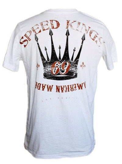 "Men's ""American Made"" Tee by LA Rebel (White) - InkedShop - 3"