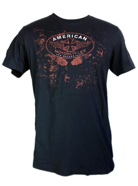 "Men's ""American Moto"" Tee by LA Rebel (Black) - InkedShop - 1"