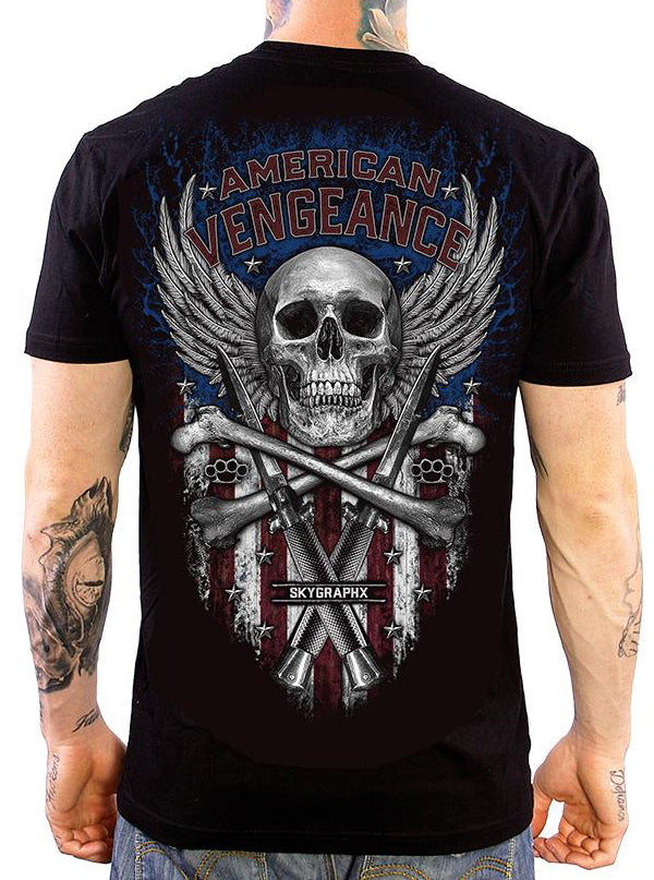 Men's American Vengeance Tee by Skygraphx