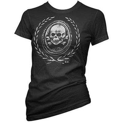 "Women's ""Death And Glory"" Tee by Pinky Star (Black) - InkedShop - 1"