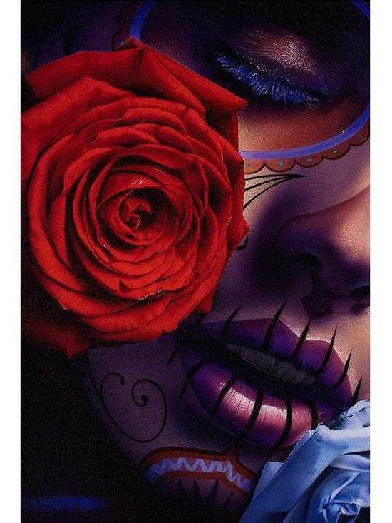 """Amor Eterno"" Print by Daniel Esparza for Black Market Art - www.inkedshop.com"