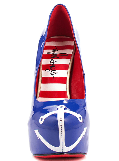 """Anchors Away"" Heels by Taylorsays (Blue) - www.inkedshop.com"