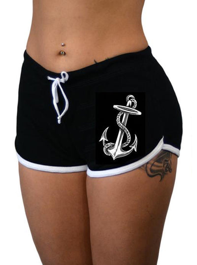 Women's Anchors Aweigh Shorts by Pinky Star