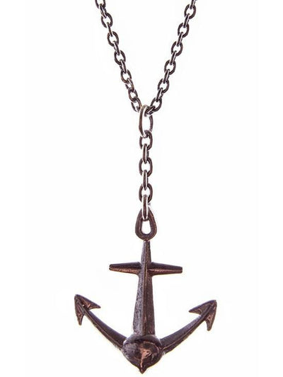"""Anchor"" Necklace by Spragwerks (Oxidized Sterling Silver) - www.inkedshop.com"