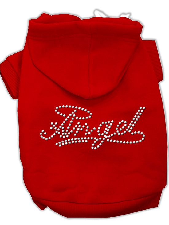 """Angel"" Dog Hoodie by Mirage Pet Products (Red) - www.inkedshop.com"