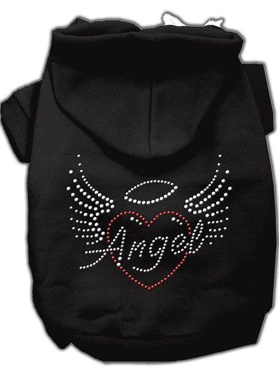 """Angel Heart"" Rhinestone Dog Hoodie by Mirage (Black) - www.inkedshop.com"