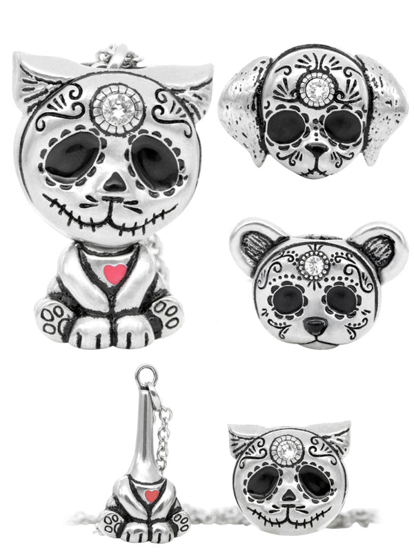 Day of the Dead Heart Interchangeable Necklace by Controse