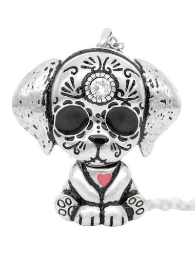 Day of the Dead Heart Interchangeable Necklace by Controse (Stainless Steel)