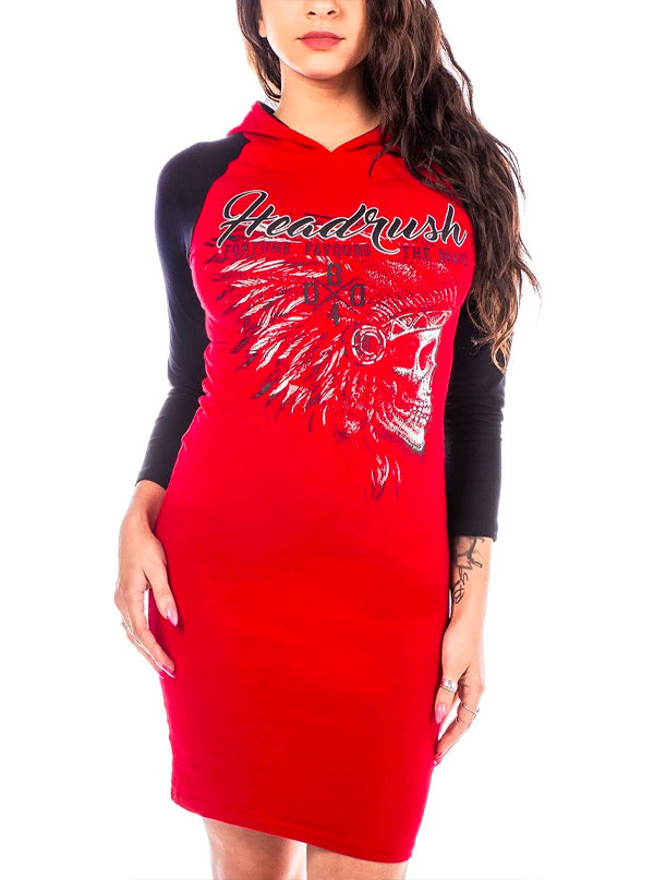 Women's Anti-Pattern Hoodie Dress by Headrush Brand