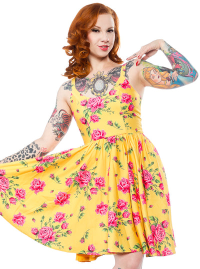 Women's Antique Roses Sweets Dress by Sourpuss