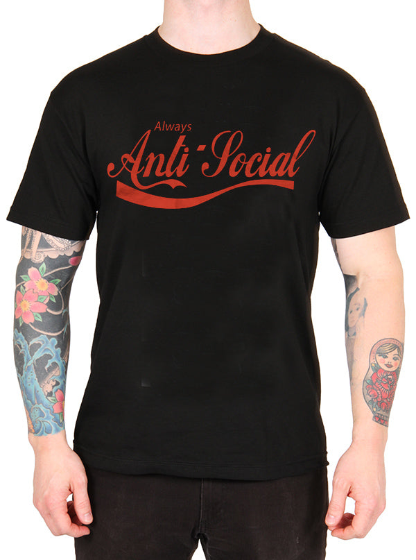 Men's Anti Social Tee by The T-Shirt Whore