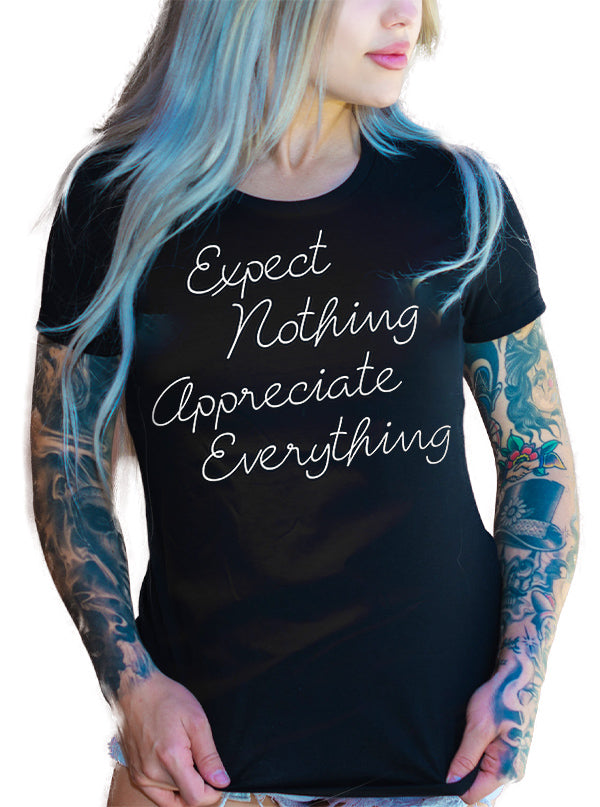 Women's Expect Nothing Appreciate Everything Tee by Ascension Apparel