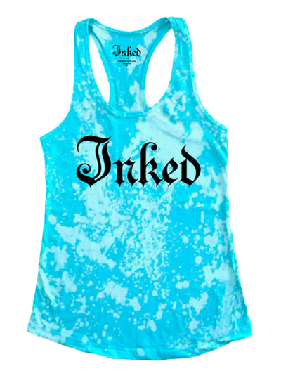 Women's Inked Logo Aqua Wash Tank by Inked