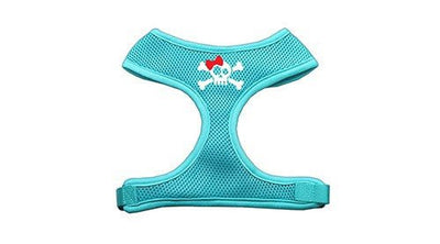 Skull Bow Screen Print Soft Mesh Harness - MORE SIZES AND COLORS AVAILABLE - InkedShop - 3