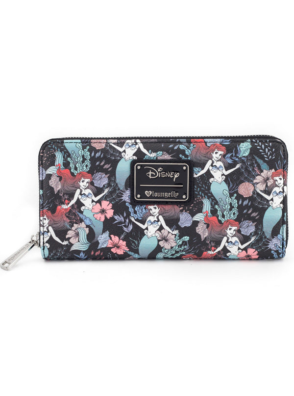Ariel Floral Print Wallet by Loungefly