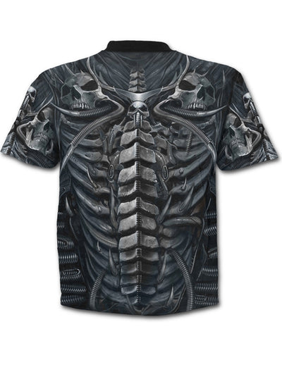 "Men's ""Skull Armour"" Tee by Spiral USA (Black)"