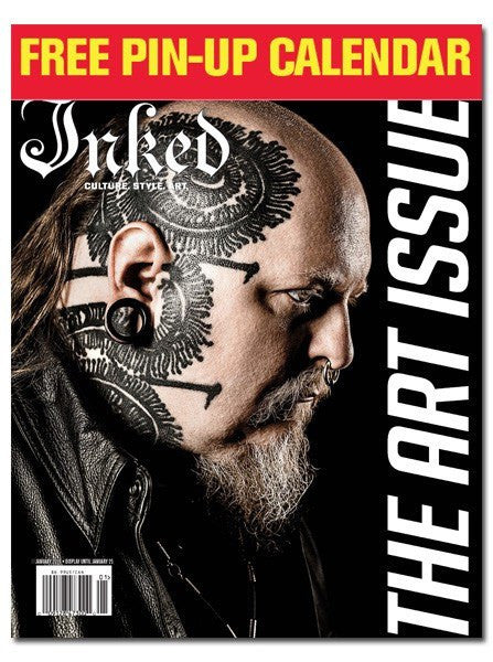 Inked Magazine: The Art Issue Featuring Paul Booth - January 2016 - www.inkedshop.com