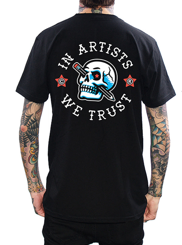 Men's Pencil Skull Tee by In Artists We Trust