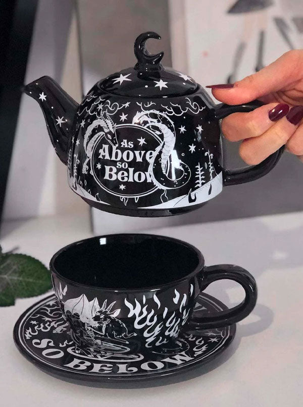 As Above Teapot & Cup by Killstar