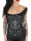 "Women's ""Ashes To Ashes"" Off The Shoulder Tee by Serpentine Clothing (Black) - www.inkedshop.com"