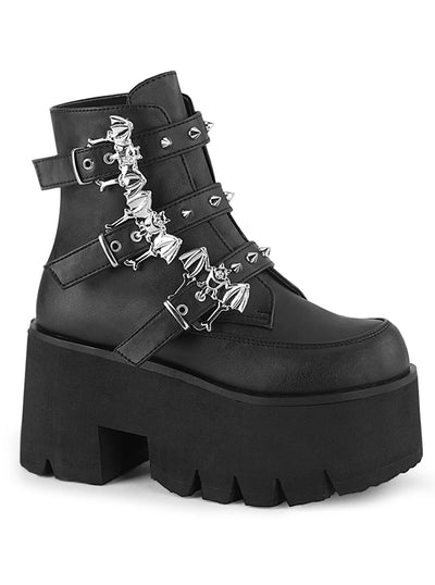 Women's Ashes 55 Platform Boots by Demonia