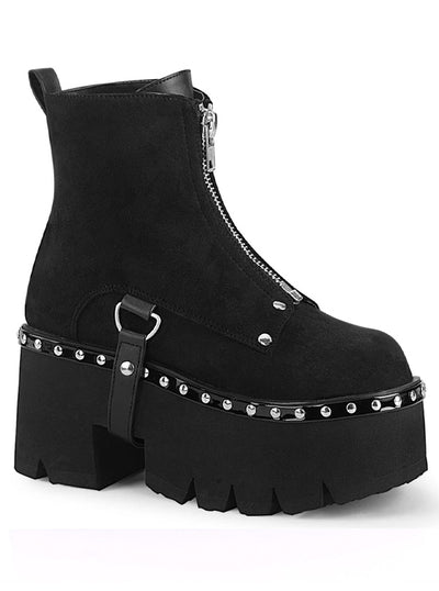 Women's Ashes 100 Platform Ankle Boots by Demonia