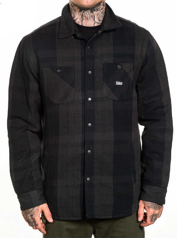 Men's Asphalt Flannel Jacket by Sullen