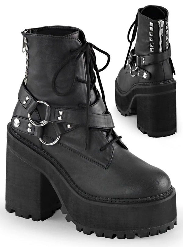 Women's Assault 101 Platform Boots by Demonia